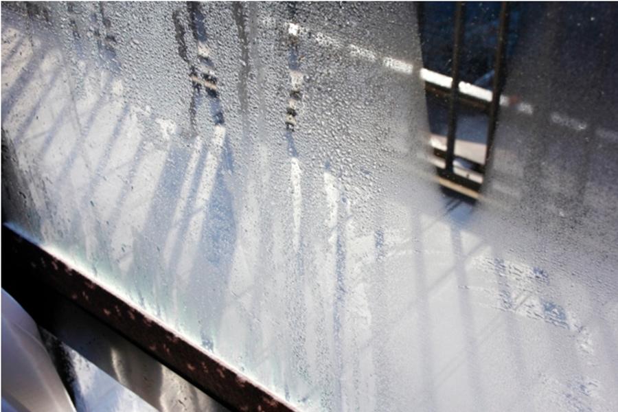 窓結露の写真